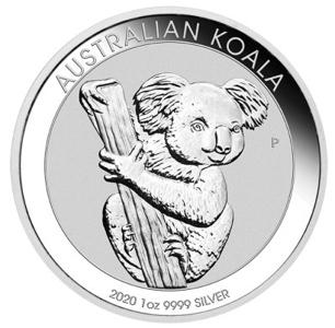 8-moedas de prata pura-koala